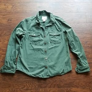 Forever 21 Army Green button up Medium